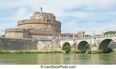"""castel sant'angelo, castle of the holy angel, rome, italy,..."