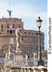 Castel Sant'Angelo in Rome, Italy. Rome landmark