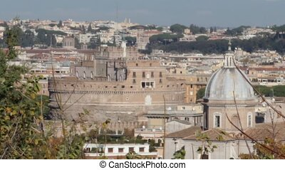 Castel Sant'Angelo - view of Castel Sant'Angelo in Rome ,...