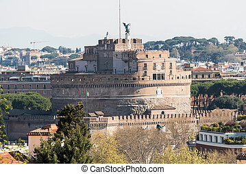 Castel Sant'Angelo view from Gianicolo