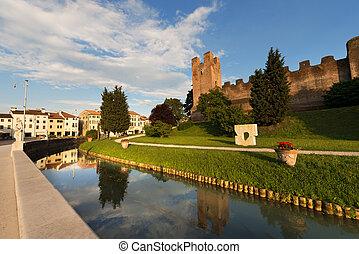 Castelfranco Veneto - Treviso Italy - Ancient walls of...