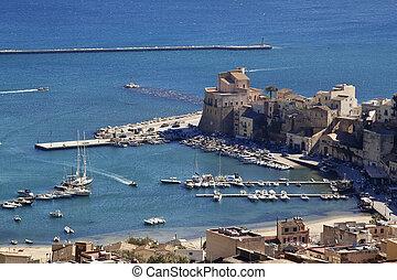 Castellammare del Golfo seaport, north-western Sicily