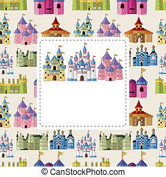 castello, cartone animato, scheda