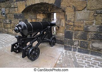 castello edimburgo, rinnovato, cannone, grande