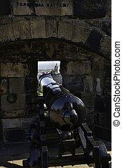 castello edimburgo, vecchio, cannone