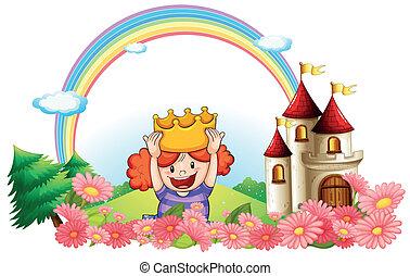 castello, indietro, principessa