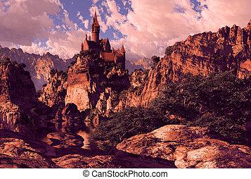 castello, montagne