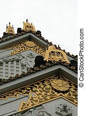 castello osaka, osaka, storico, giappone