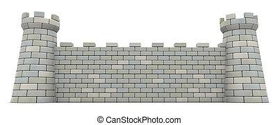 castello, parete