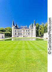 castello pichon longueville, bordeaux, regione, francia