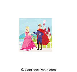 castello, principessa, principe, bello