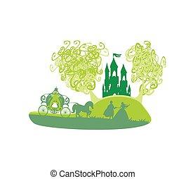 castello, principessa, principe, magia