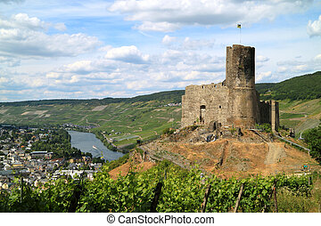 castello, rovine, in, germania