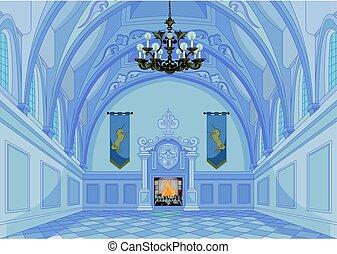 castello, salone