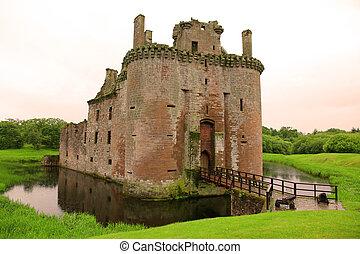 castello, scozia, regno unito, caerlaverock
