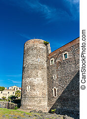 Castello Ursino, a medieval castle in Catania, Sicily,...