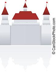 castello, vettore, illustrazione