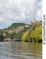 Castelnaud, Dordogne, France - September 7, 2018: Chateau de Castelnaud, medieval fortress at Castelnaud-la-Chapelle, Dordogne, Aquitaine, France