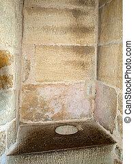 Medieval lavatory in Castelnaud castle. medieval fortress at Castelnaud-la-Chapelle, Dordogne, Aquitaine, France