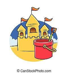 castelo, areia
