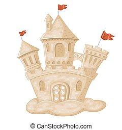 castelo areia, ilustração