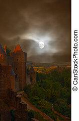 castelo, arrepiado