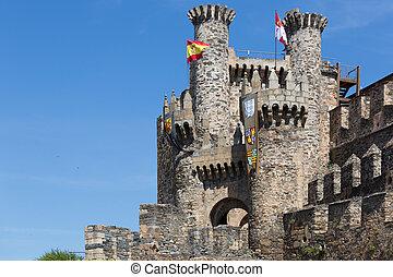 castelo, de, a, templars