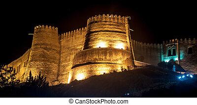castelo, em, khorramabad, irã