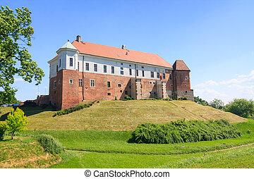 castelo, em, sandomierz, polônia
