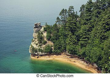castelo, formação, mineiros, rocha