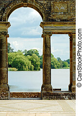 castelo, jardins, antigas, arcos, hever