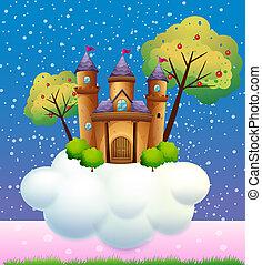 castelo, nuvem