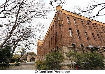 castelo osaka, osaka, histórico, japão