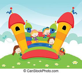 castelo, pular
