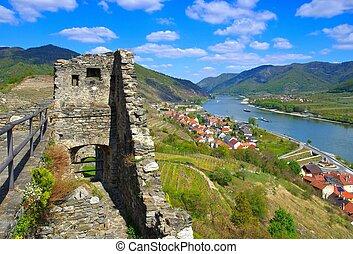 castelo, ruína, hinterhaus, spitz