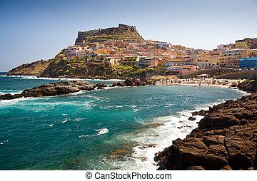 View of Castelsardo, Sardinia Italy