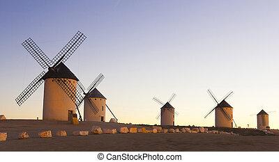 castile, východ slunce, španělsko