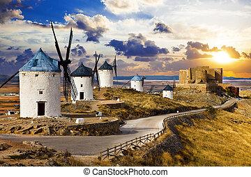 Castilla,La Mancha - Consuegra with windmils