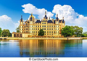 castillo, alemania antigua, schwerin