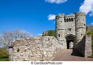 castillo, carisbrooke, wight, isla