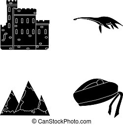 castillo de edimburgo, monstruo de loch ness, grampian,...