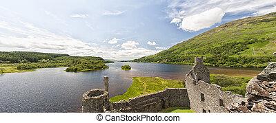 castillo de kilchurn, panorama
