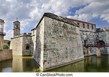 Castillo de la Real Fuerza - Havana Fort - A view of Old...