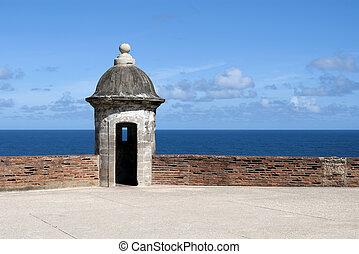 Castillo de San Cristobal. - Tower at the Castillo de San...