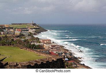 Castillo de San Felipe del Morro, San Juan, Puerto Rico -...
