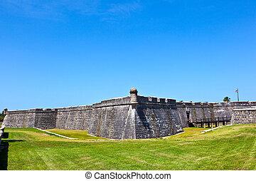 castillo, de, san marco, -, 古代, 城砦, 中に, st. 。 augustine,...