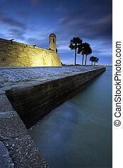 Castillo de San Marcos in St. Augustine, Florida. - Castillo...