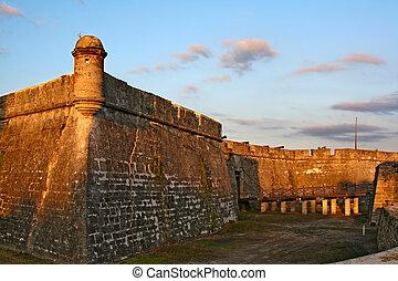 Castillo de San Marcos in St. Augustine, Florida, USA