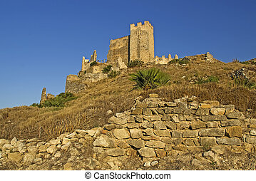 Castillo de Xivert, templar castle near the town Alcal? in ...