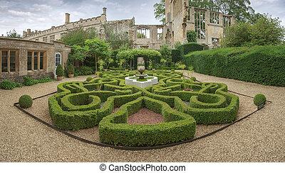 castillo, jardín, sudeley